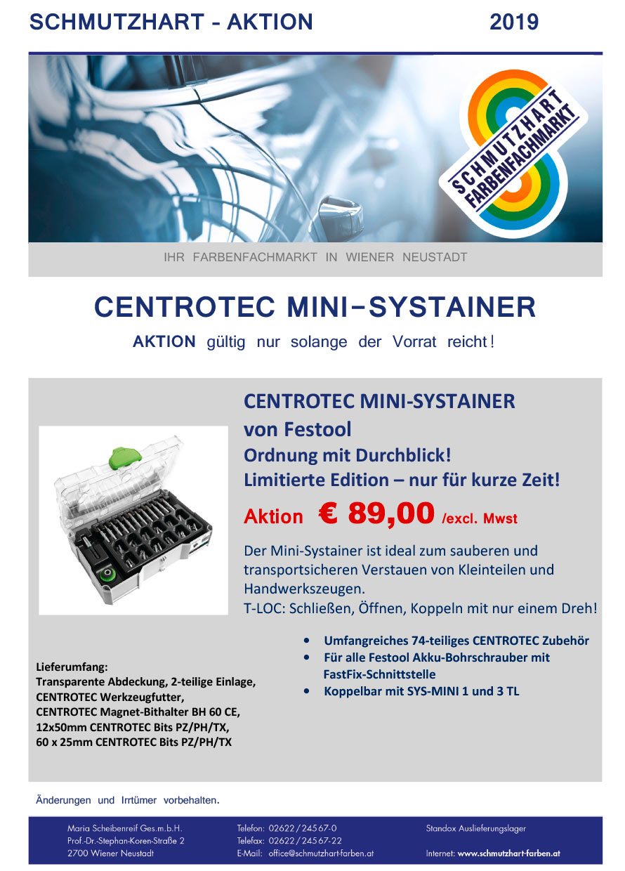 Centrotec Mini-Systainer Aktion
